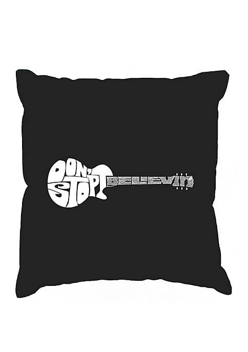 Word Art Throw Pillow Cover - Dont Stop Believin