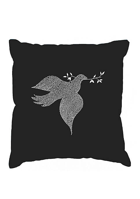 Word Art Throw Pillow Cover - Dove
