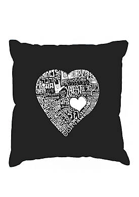 Word Art Throw Pillow Cover -  Love in 44 Different Languages