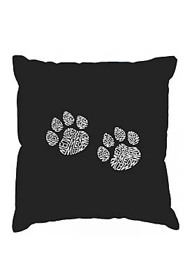 Word Art Throw Pillow Cover - Meow Cat Prints