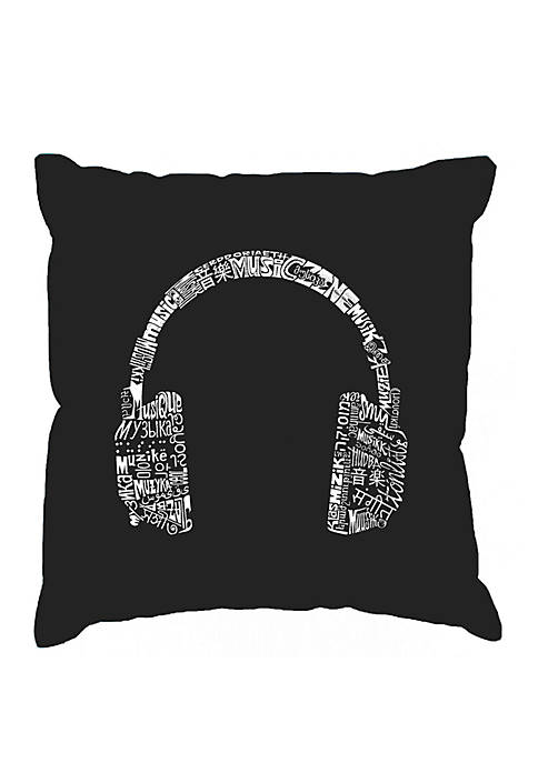Word Art Throw Pillow Cover - Languages