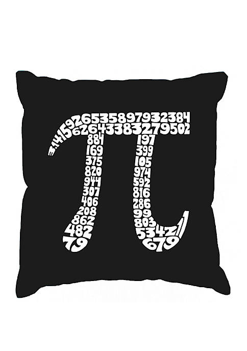 Throw Pillow Cover - Word Art - The First 100 Digits Of PI