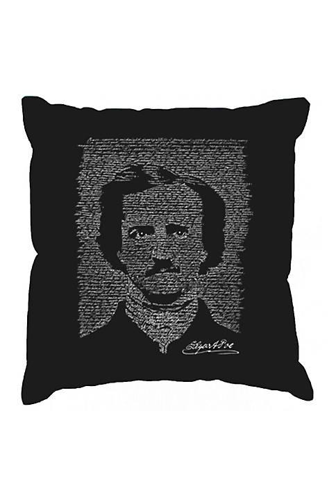 Throw Pillow Cover - Word Art - Edgar Allen Poe - The Raven