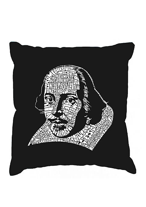 Throw Pillow Cover - Word Art - The Titles Of All Of William Shakespeares Comedies & Tragedies