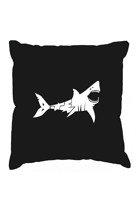 Throw Pillow Cover - Word Art -  Bite Me