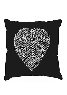Throw Pillow Cover - Word Art - William Shakespeares Sonnet 18
