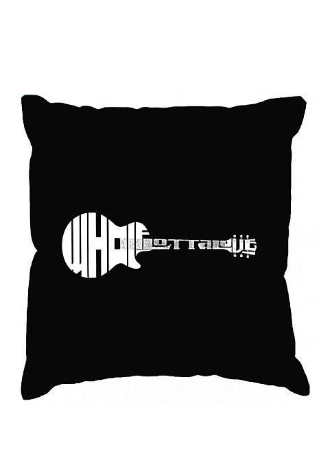 Word Art Throw Pillow Cover - Whole Lotta Love