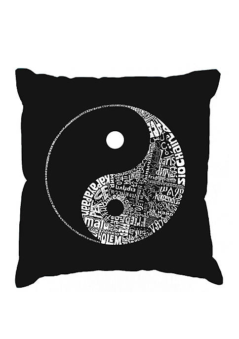 LA Pop Art Word Art Throw Pillow Cover