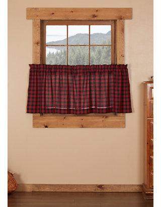 Rustic Kitchen Curtains Shasta Cabin Tier Pair
