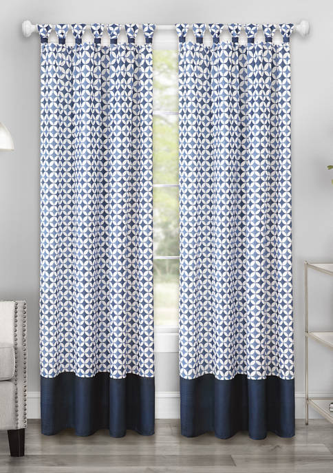 Achim Callie Cuff Tab Top Window Curtain Panel