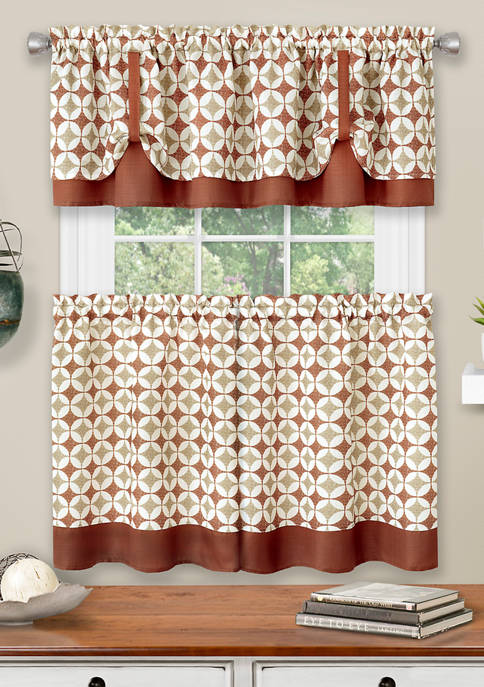 Achim Callie Window Curtain Tier Pair and Valance