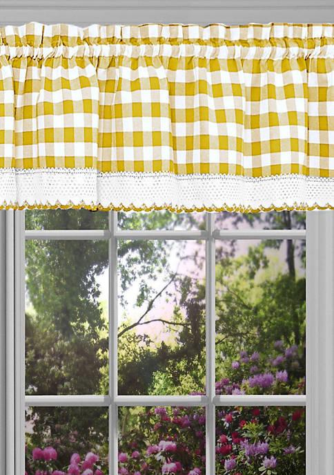 Achim Buffalo Check Window Curtain Valance