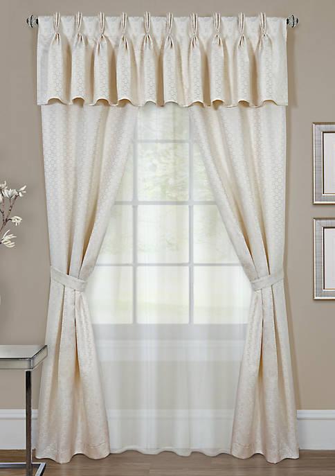 Claire 6 Piece Window Curtain Set