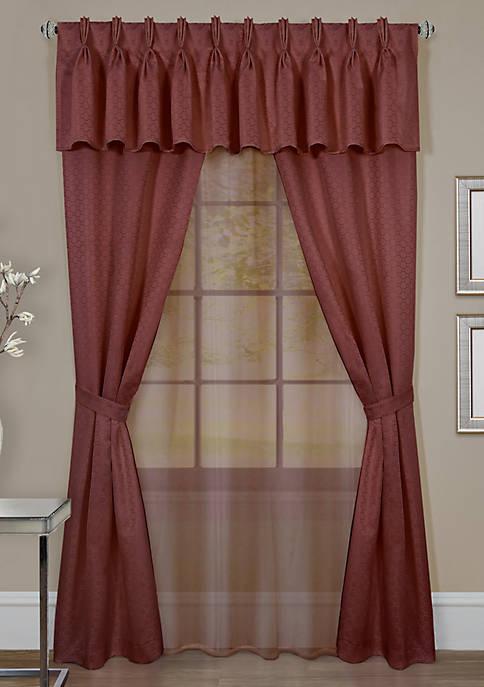 Achim Claire 6 Piece Window Curtain Set