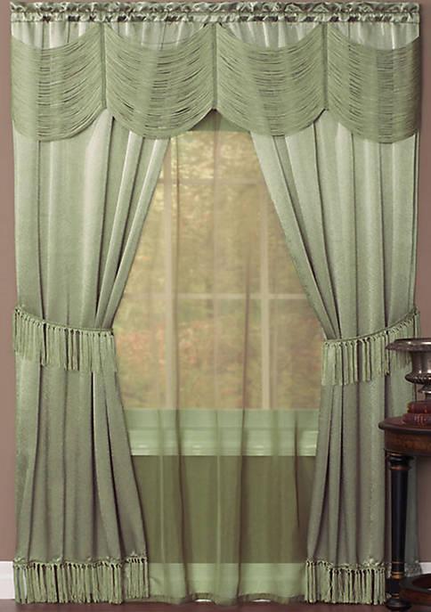 Achim Halley 6 Piece Window Curtain Set
