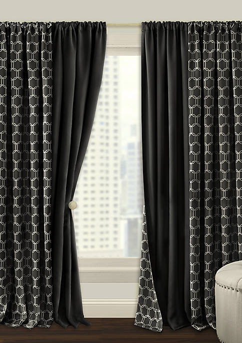 Achim Prelude Reversible Blackout Rod Pocket Curtain Panel