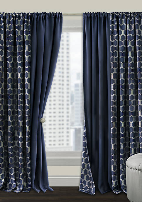 Prelude Reversible Blackout Rod Pocket Curtain Panel