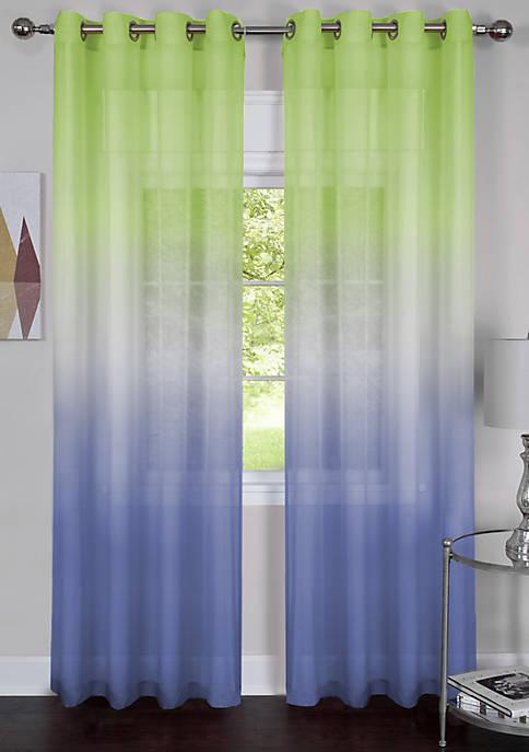 Achim Single Grommet Rainbow Window Curtain Panel