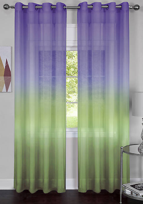 Single Grommet Rainbow Window Curtain Panel