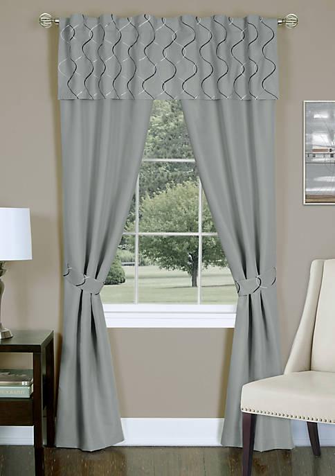 Trellis 5 Piece Window Curtain Set