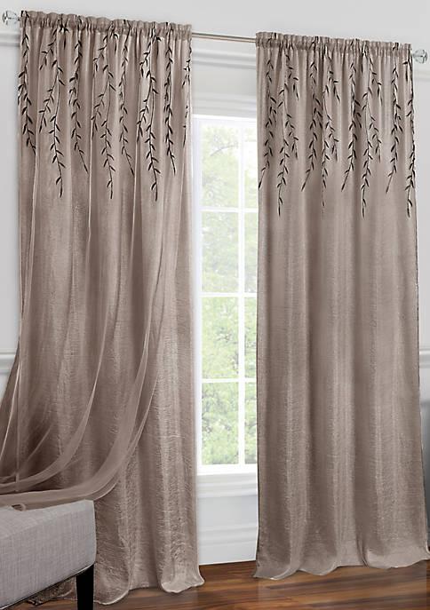 Achim Willow Rod Pocket Window Curtain Panel
