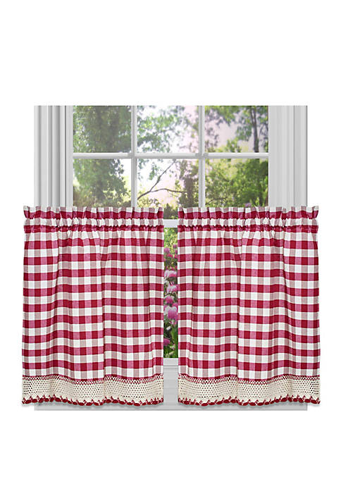 Achim Buffalo Check Window Curtain Tier Pair