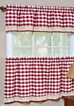 Buffalo Check Window Curtain Tier Pair