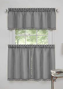Achim Wallace Window Kitchen Curtain Tier Pair and Valance Set