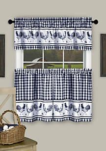Achim Barnyard Window Curtain Tier Pair and Valance Set