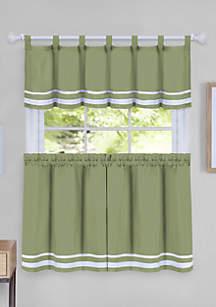 Achim Dakota Window Curtain Tier Pair and Valance Set