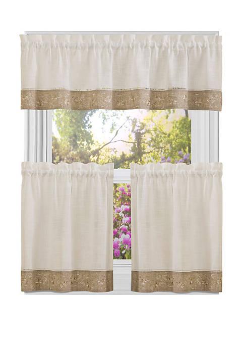 Oakwood 58 in x 24 in Window Curtain Tier Pair