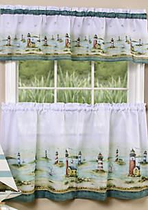 Achim Hamptons Tier and Valance Window Curtain Set