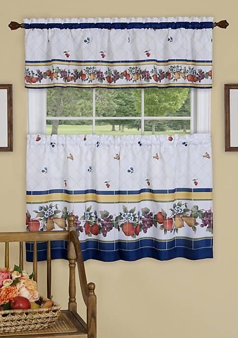 Achim Fruity Tiles Tier and Valance Window Curtain
