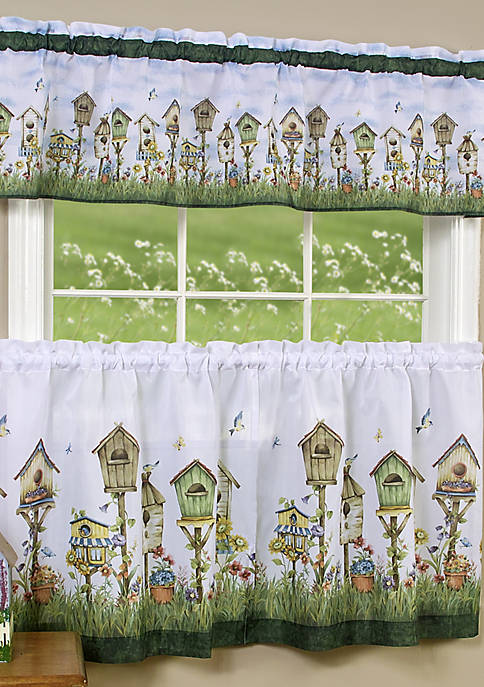 Home Sweet Home  Tier and Valance Window Curtain Set