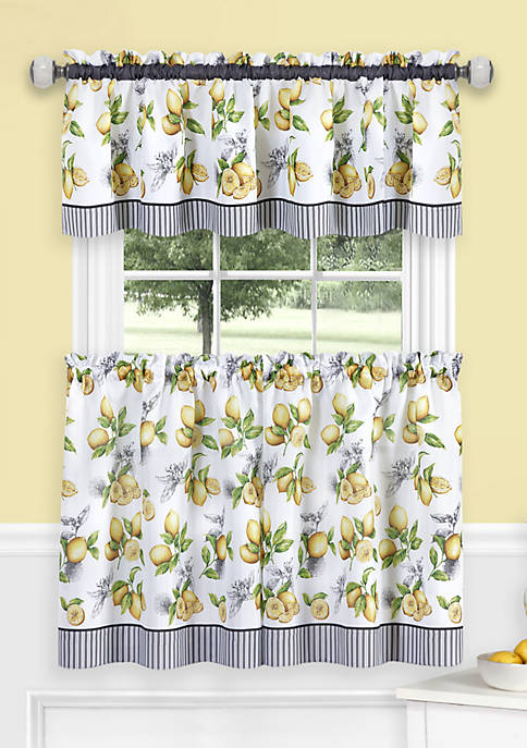 Achim Lemon Drop Tier and Valance Window Curtain