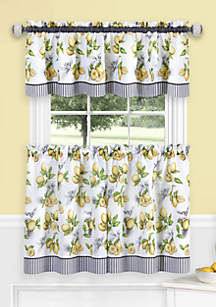 Achim Lemon Drop Tier and Valance Window Curtain Set