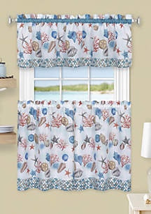 Achim Coastal Tier and Valance Window Curtain Set