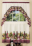 Chardonnay - Printed Tier and Swag Window Curtain Set