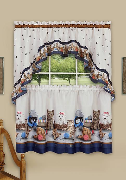 Achim Precious Printed Tier and Swag Window Curtain