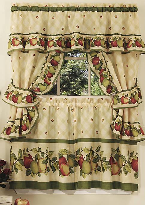 Apple Orchard Cottage Window Curtain Set