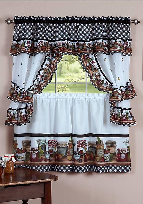 Achim Mason Jars Window Curtain Set