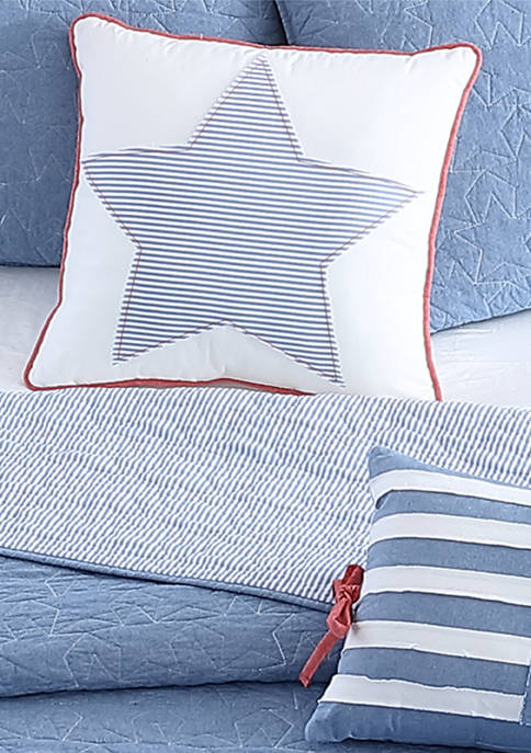 Heirloomed Chambray Star Decorative Pillow