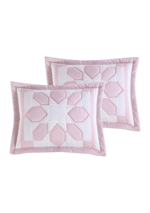 Heirloomed Flower Patch Pink Standard Sham