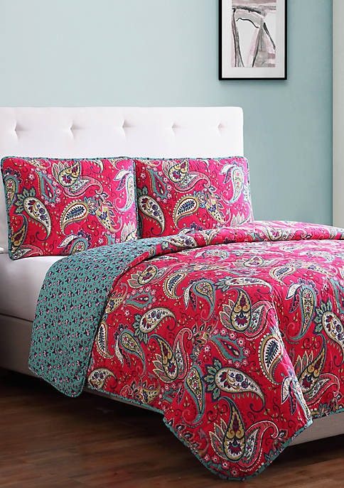 Avery Paisley Quilt Set