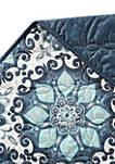 Sampson Blue Medallion Quilt Set