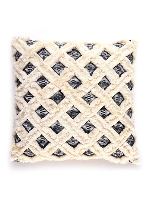 goodness & grace Jacquard Fringe Decorative Pillow