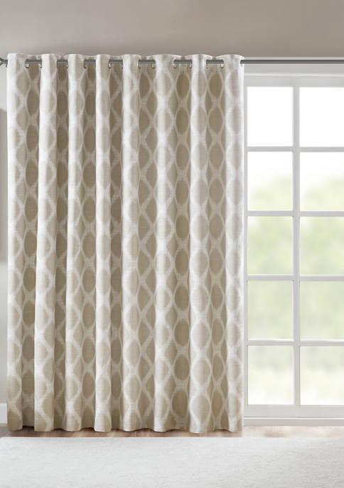 Blakesly Printed Ikat Blackout Patio Curtain