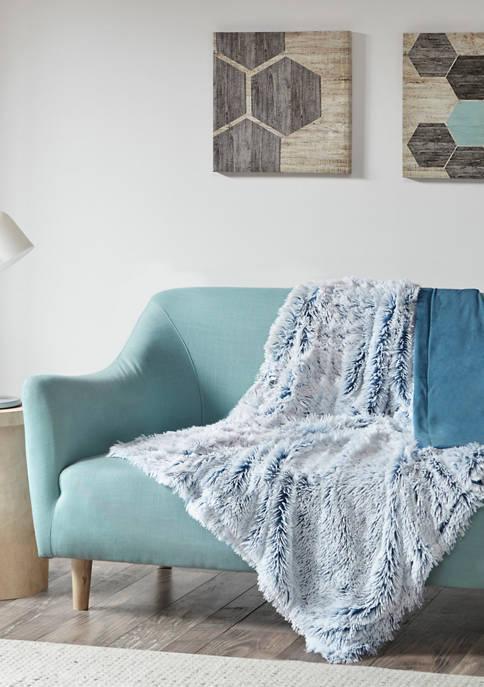 Intelligent Design Emma Shaggy Faux Fur Throw