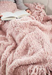 Lilly Faux Fur Throw with Fringe