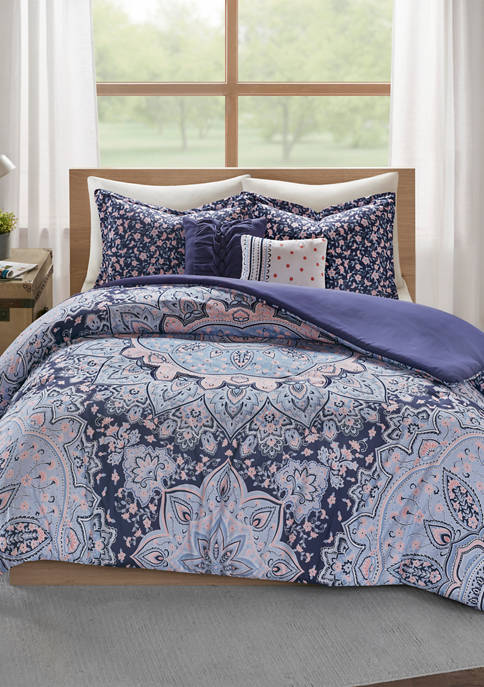 Intelligent Design 4 Piece Odette Boho Duvet Cover